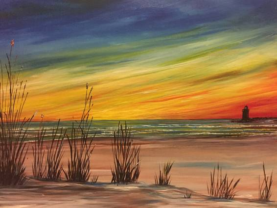 A East Coast Sunset paint nite project by Yaymaker