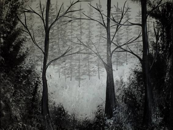A Woodland Whisper paint nite project by Yaymaker