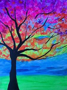 A Neon Trees Black Light Event paint nite project by Yaymaker