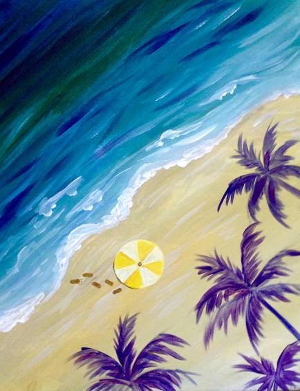 A Chillen Beach Side paint nite project by Yaymaker