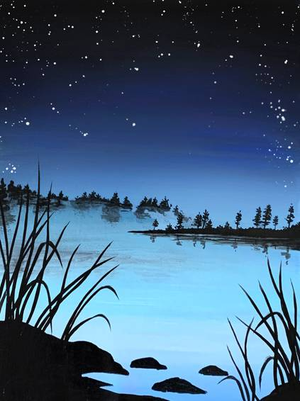 A Blue Lake Starry Night experience project by Yaymaker