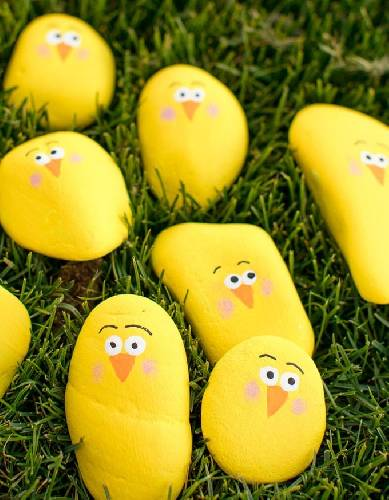A Easter Painted Rock Chicks  Virtual Event experience project by Yaymaker