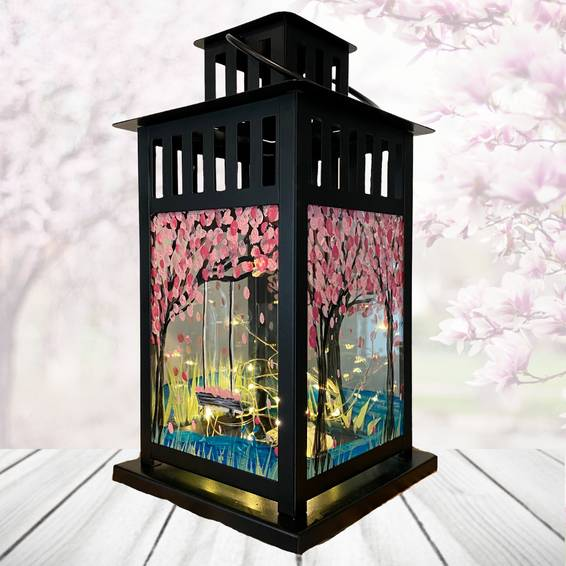 A Cherry Blossom Lantern with Fairy Lights experience project by Yaymaker