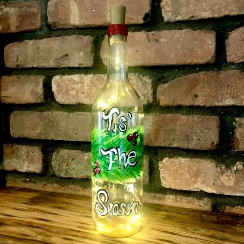 A Tis The Season Wine Bottle  Fairy Lights experience project by Yaymaker
