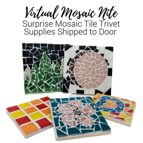A Virtual Mosaic NiteChoose Your Design Supplies Shipped to door experience project by Yaymaker