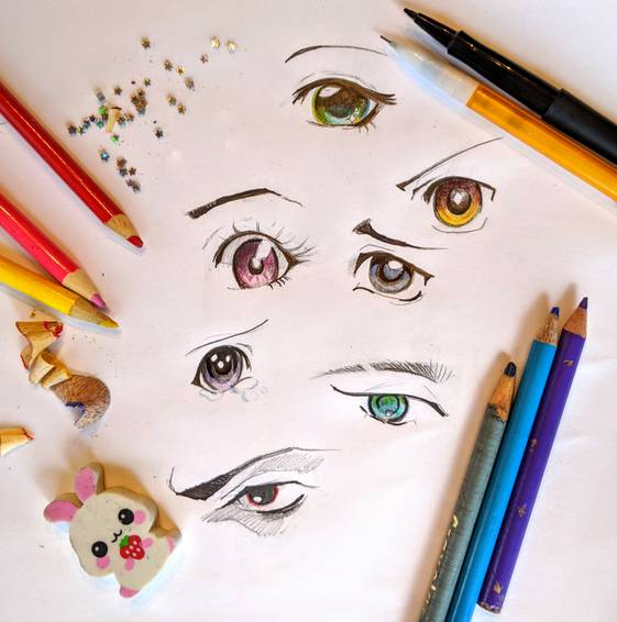 A Learn to Draw Anime Eyes  Virtual Event experience project by Yaymaker