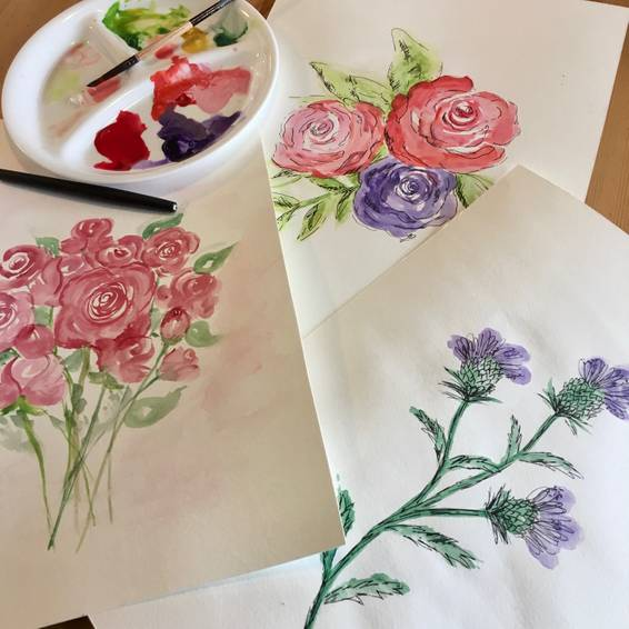 A Watercolour Flowers 101 experience project by Yaymaker