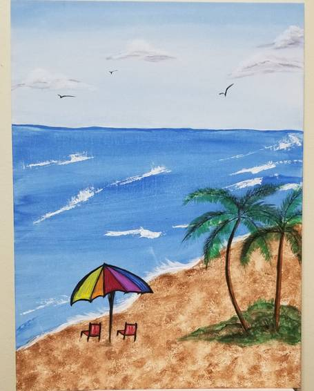 A Beach Day on Paint Night experience project by Yaymaker