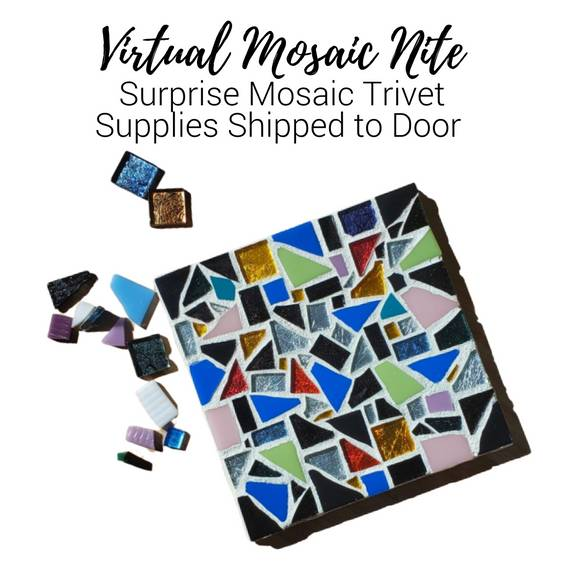 A Virtual Mosaic Nite Surprise Mosaic Kit Supplies Shipped to Door experience project by Yaymaker