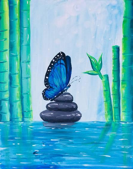 A Zen Blue Butterfly experience project by Yaymaker