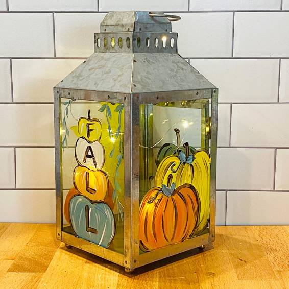 A Fall Pumpkins Lantern with Fairy Lights experience project by Yaymaker