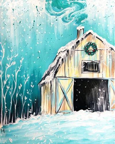 A Winter Barn In Teal experience project by Yaymaker