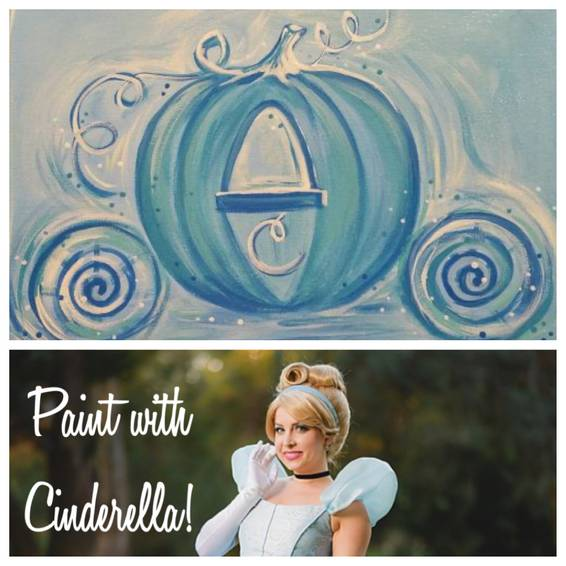 A Paint with a Princess  Cinderella Carriage Edition experience project by Yaymaker