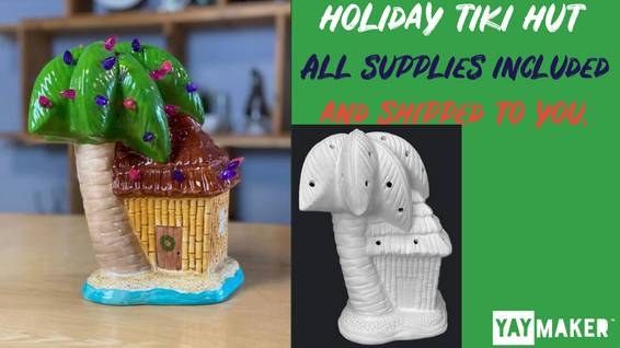 A Ceramic Holiday Tiki Hut experience project by Yaymaker