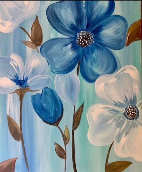 A Blue and White Poppies experience project by Yaymaker
