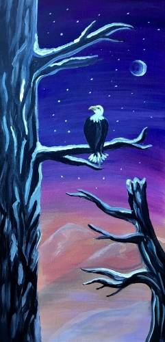 A Snowy Eagle Perch 10x20 experience project by Yaymaker