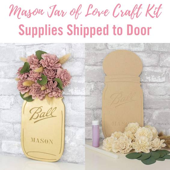 A Mason Jar of Love Craft Kit Supplies Shipped to Door experience project by Yaymaker