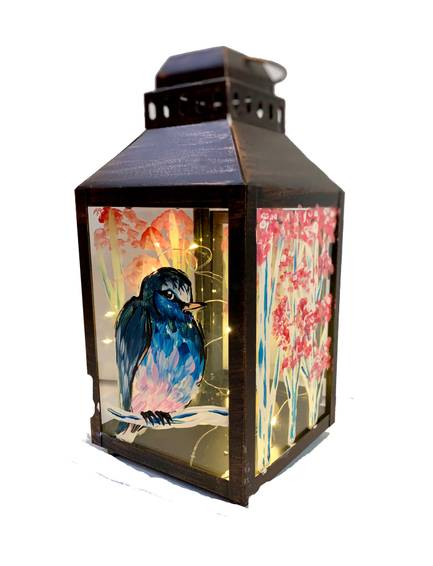 A Spring Bird Lantern with Fairy Lights experience project by Yaymaker