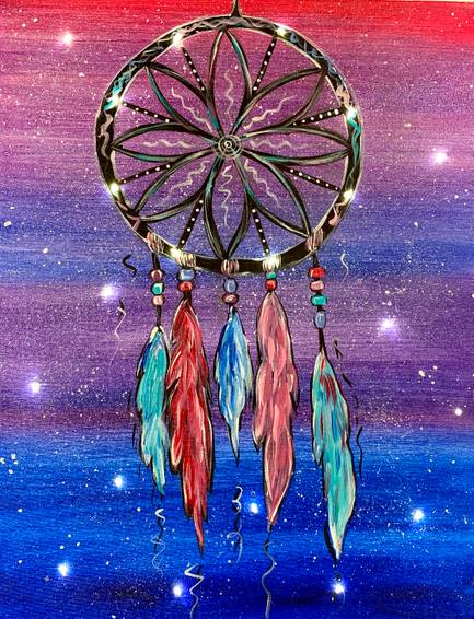 A Galaxy dream catcher With Fairy Lights experience project by Yaymaker