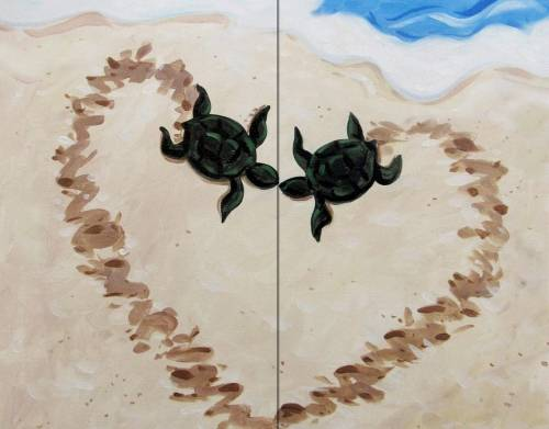 A Turtle Love  Partner Painting experience project by Yaymaker