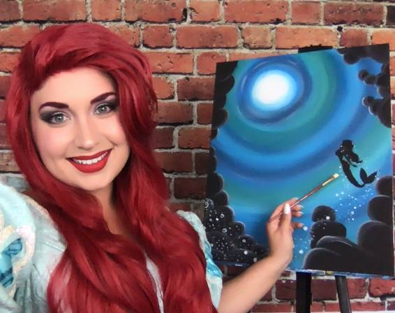 A Paint with a Princess  Little Mermaid Edition experience project by Yaymaker