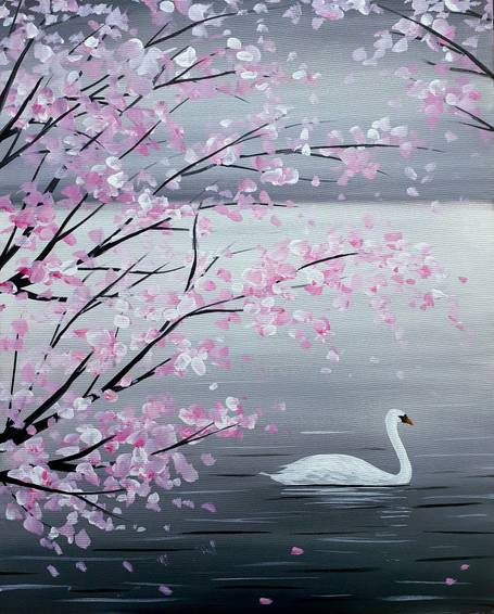 A Cherry Blossom Swan experience project by Yaymaker
