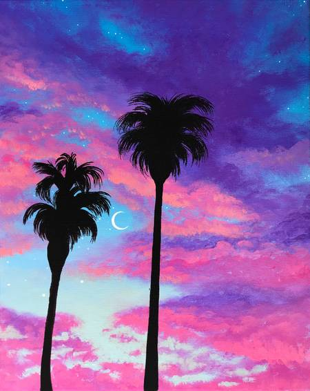 A Palm Tree Sunset Skies experience project by Yaymaker