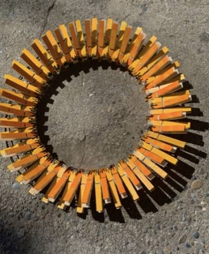 A Sunflower Clothespin Wreath  Virtual Event experience project by Yaymaker
