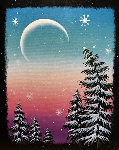 A Snowy Moonlit Pines experience project by Yaymaker