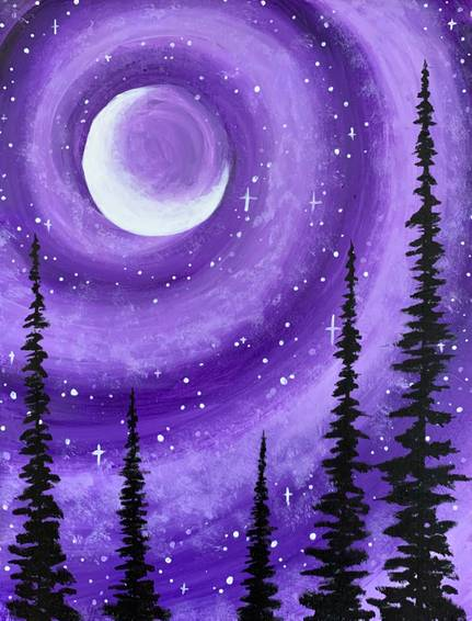 A Purple Galaxy Forest experience project by Yaymaker