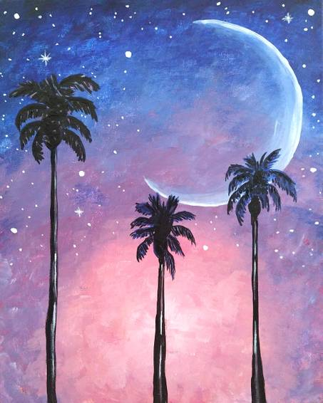 A Magical Palm Tree Moon experience project by Yaymaker