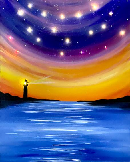 A Lighthouse by the Sea LED Twinkle Lights Included experience project by Yaymaker