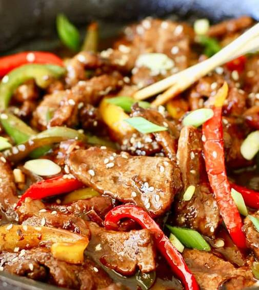 A Mongolian Beef  or  Chicken experience project by Yaymaker