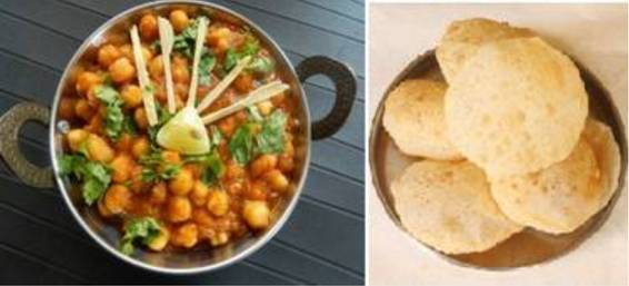 A Indian Chana Masala and Puri Fried Bread  VeganVegetarian experience project by Yaymaker