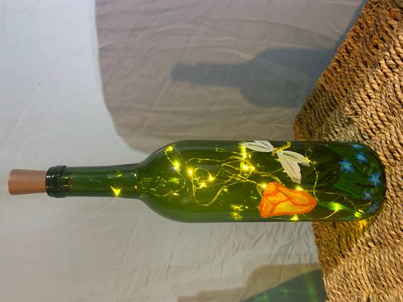 A Dragonfly Bottle Painting experience project by Yaymaker