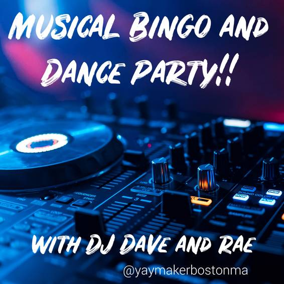 A Musical Bingo and Dance Party with DJ Dave and Rae experience project by Yaymaker
