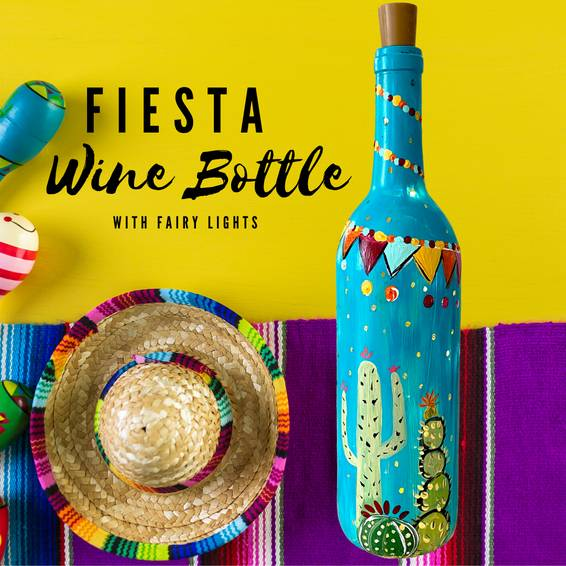 A Fiesta Wine Bottle with Fairy Lights experience project by Yaymaker