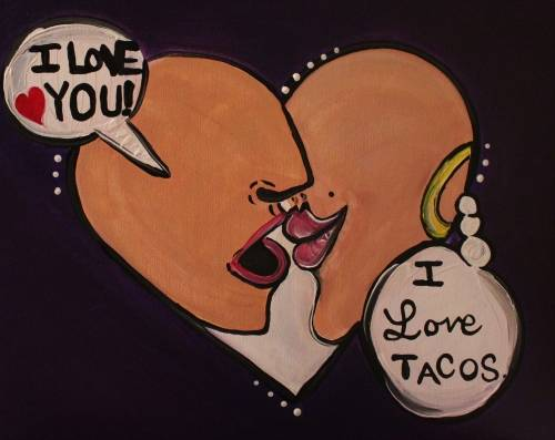 A I Love Tacos Pop Art experience project by Yaymaker