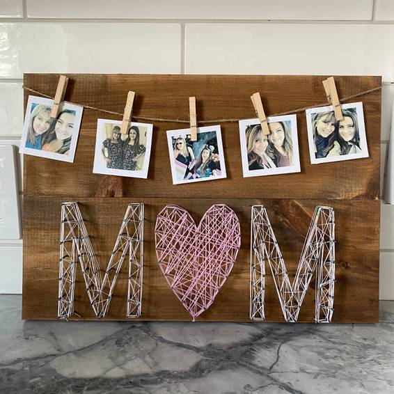 A String Art Love Mom Decor experience project by Yaymaker