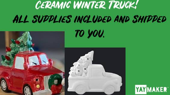A Ceramic Winter Truck experience project by Yaymaker