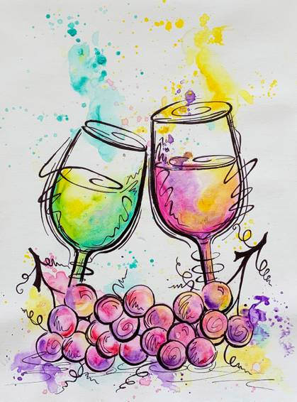 A Acrylic and sharpie Wine Glasses experience project by Yaymaker