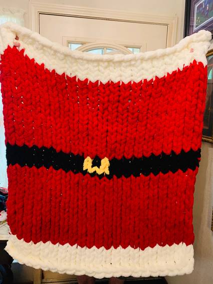 A Santa Chunky Blanket experience project by Yaymaker