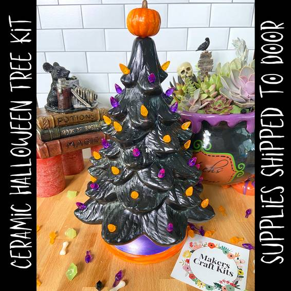A Ceramic Halloween Tree Supplies Ship to Door Virtual Event experience project by Yaymaker