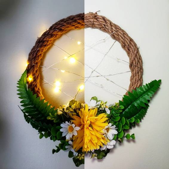 A Light Me Up Faux Wreath experience project by Yaymaker
