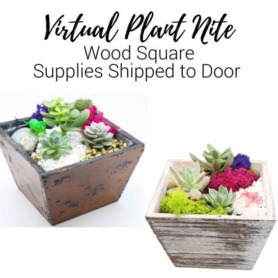 A Virtual Plant Nite Wood Square Supplies Shipped to Door experience project by Yaymaker