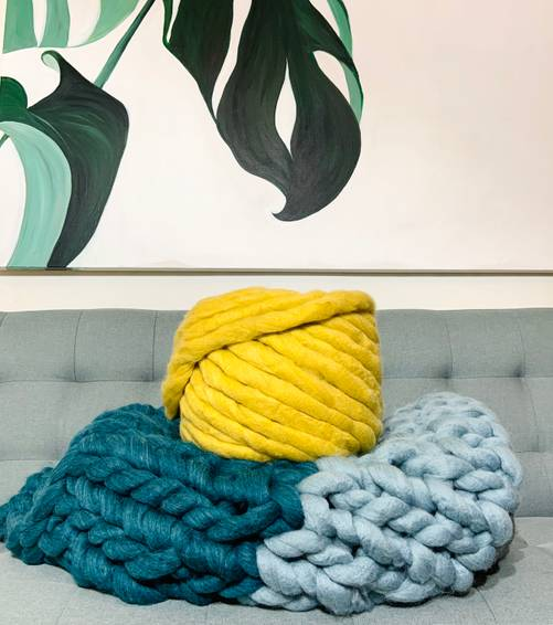 A Multi Colour Chunky Blanket IIIII experience project by Yaymaker