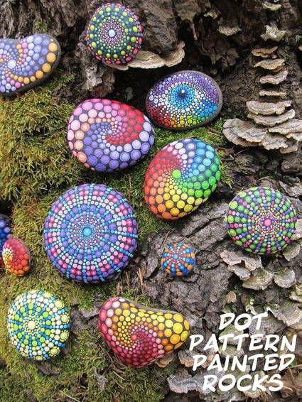 A Crafting with Sammy B  Painted Rocks  Dot patterns experience project by Yaymaker