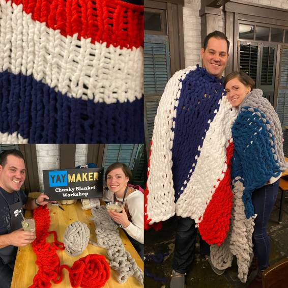 A Chunky Blanket Date Nite Workshop experience project by Yaymaker