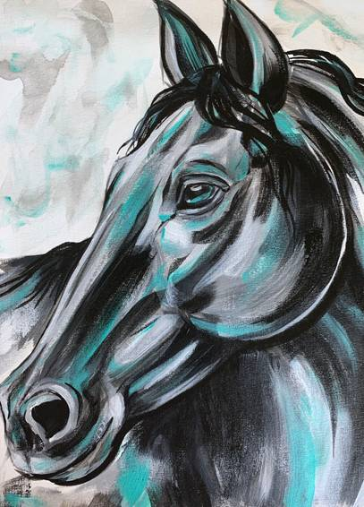 A Black and Teal Horse experience project by Yaymaker