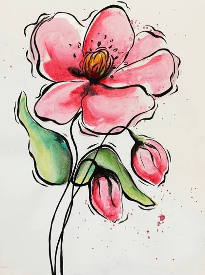 A Watercolorish Poppy experience project by Yaymaker